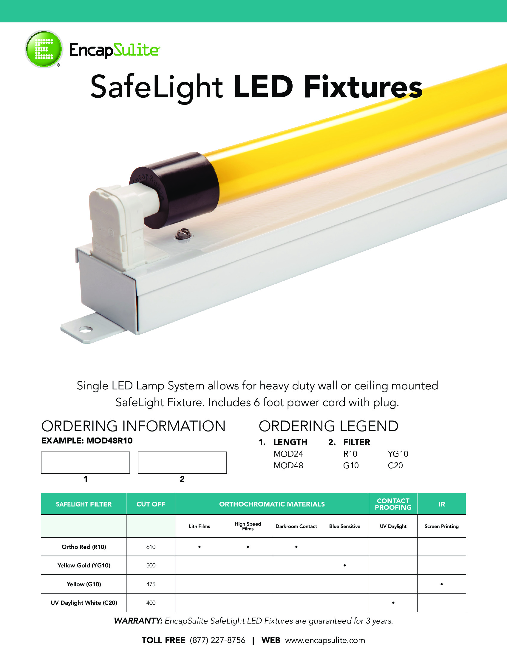 SafeLight LED Fixture Specification