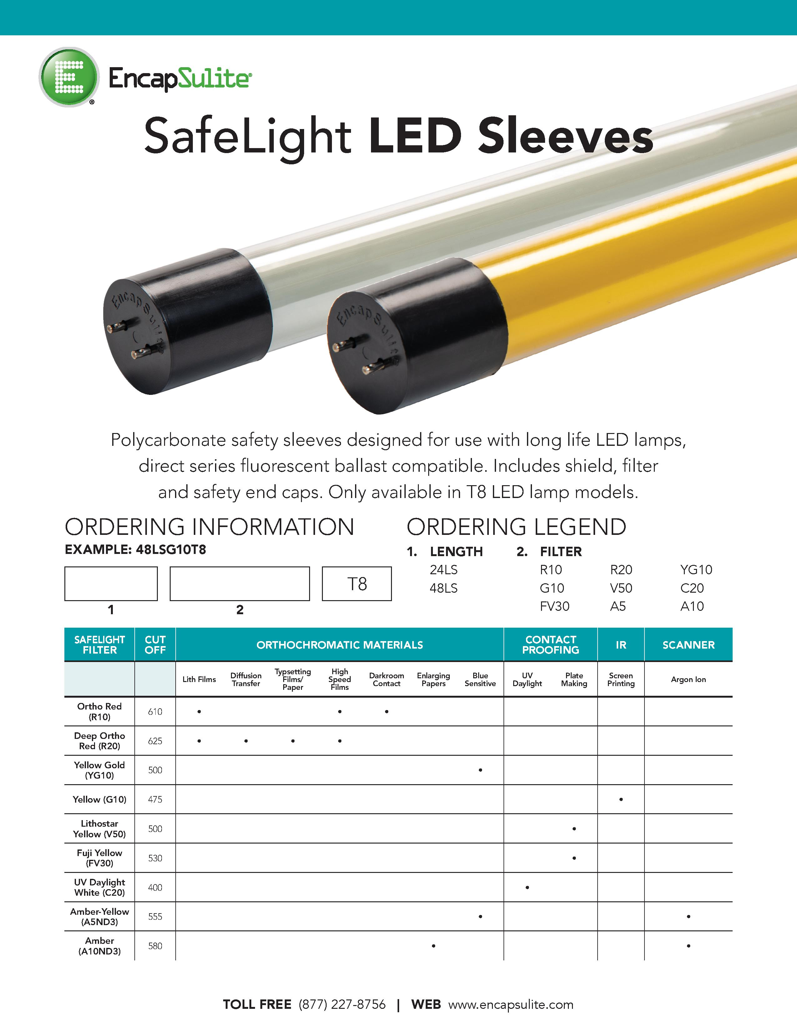SafeLight LED Sleeve Specification