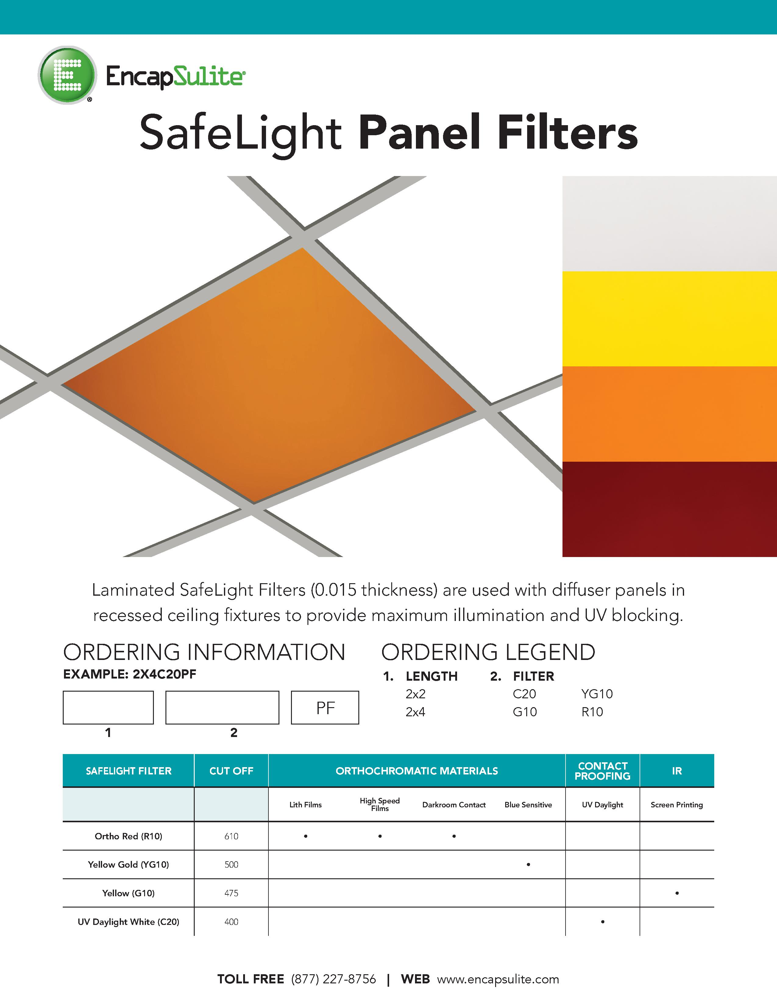 SafeLight Panel Filter Specification
